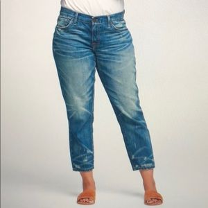 Able Jeans The Slouch Rosa Denim Cropped Jeans